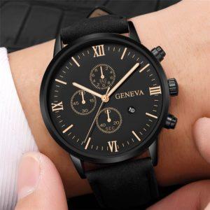 Relógio Masculino Esportivo Analógico Geneva de couro sintético - EDITADO